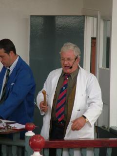 Auctioneer at Mart, Castle Douglas
