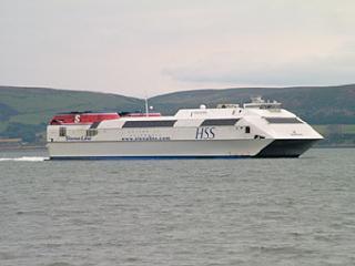 Catamaran Ferry in Loch Ryan, Stranraer
