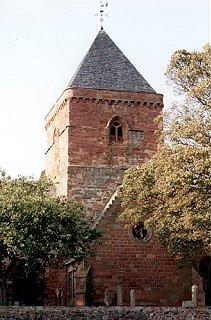 The historic Whitekirk Parish Church