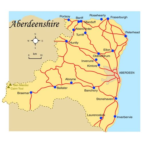Map Of Aberdeenshire Aberdeenshire Map