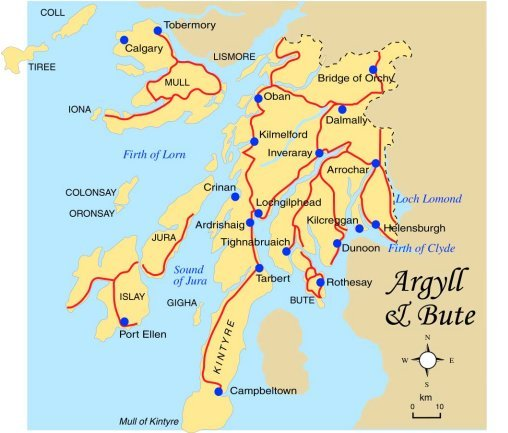Argyll and Bute Map