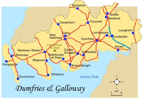 Map Of Dumfries Dumfries and Galloway Map Map Of Dumfries