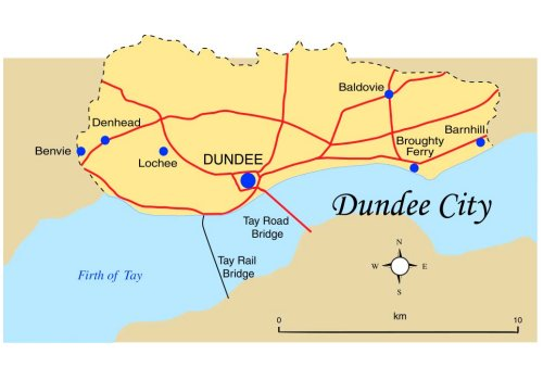 Dundee City Map