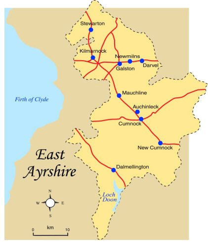 East Ayrshire Map