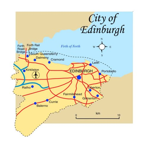 City of Edinburgh Map