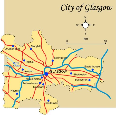 Glasgow City Map