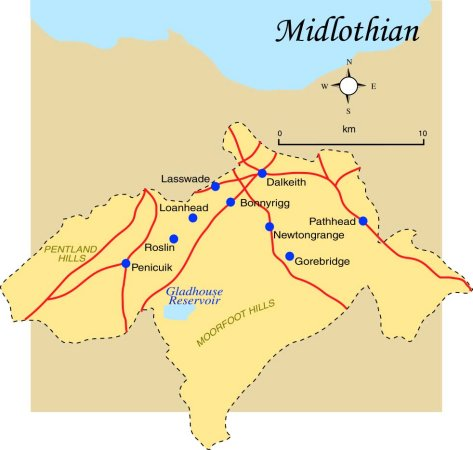 Midlothian Map