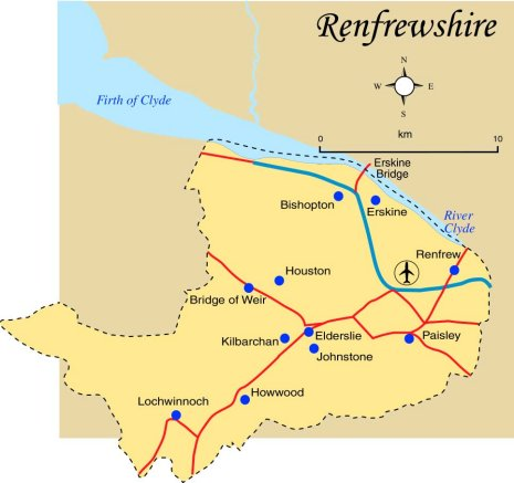 Renfrewshire Map