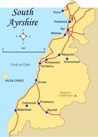 South Ayrshire Map