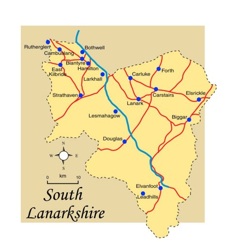 South Lanarkshire Map