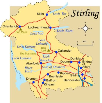 Stirling Scotland Map Stirling Map