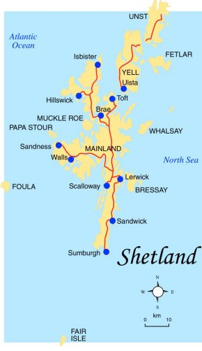 Shetland: Shetland Map