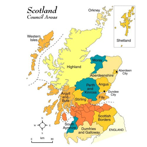 Clickable Map of Scotland